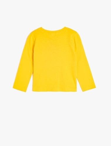Koton Kids Yazılı Baskılı T-Shirt Sarı